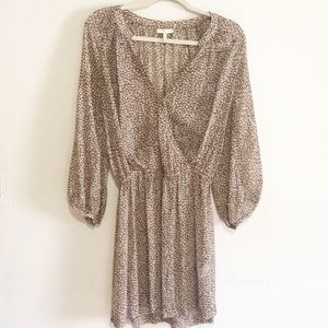 Joie Molly Cotton Dress in Acorn Brown Gray Sz Lg